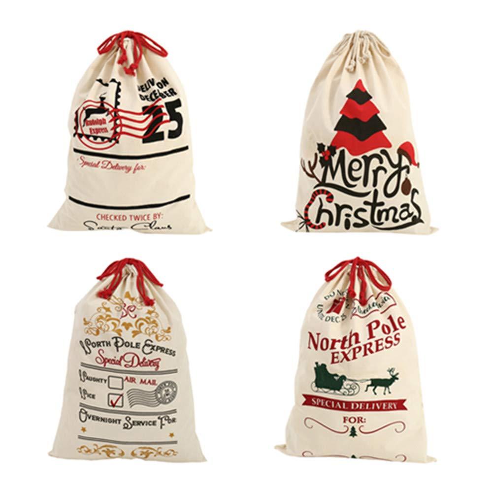 Littleduck 4pcs Christmas Santa Sack 20