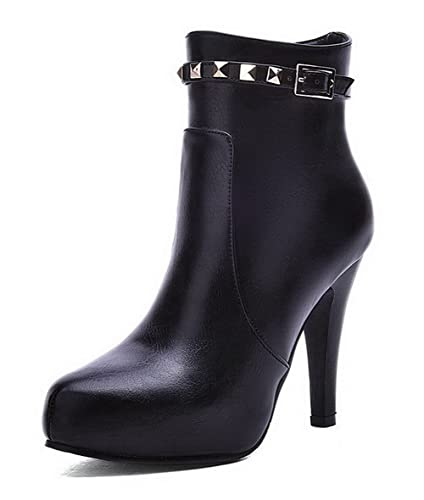 Women's High Heels Soft Material Low Top Solid Zipper Boots