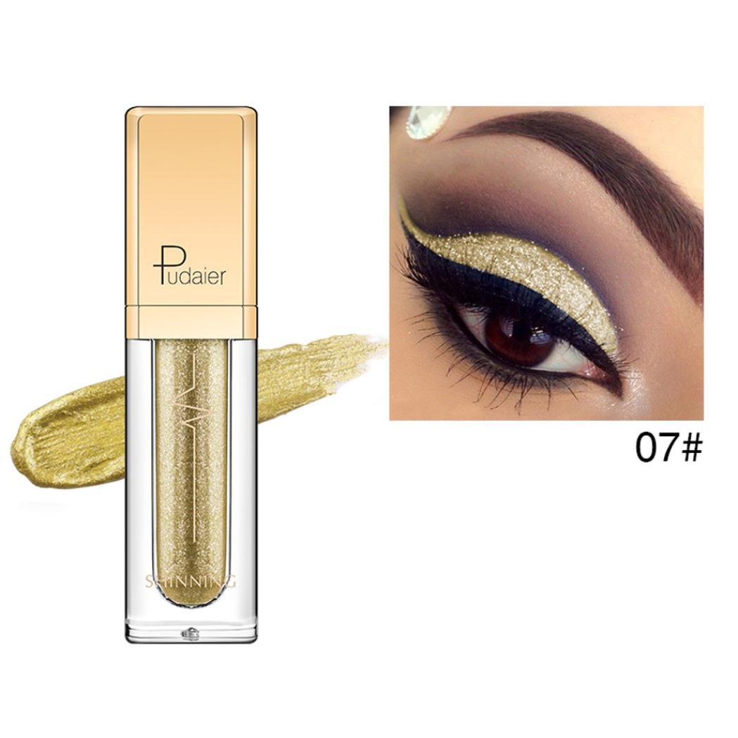 Lidschatten, Hunpta Metallischer glänzender rauchiger Augen-Augenschminke-wasserdichter Glitter-flüssiger Eyeliner (G)