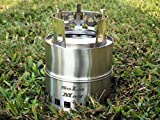 SoLoMan portable stainless Wood Stove ultra light weight compact design survival, camping, backpacking, emergency preparation