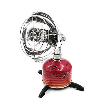 Mini Calentador de Calentador de Gas para Acampar portátil con Soporte para Estufa de Pesca al Aire Libre Calentador de Tienda de campaña: Amazon.es: ...