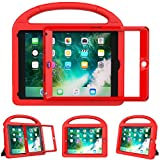 eTopxizu Shockproof Case Light Weight Kids Case for New iPad 9.7 2018/2017,iPad 9.7 Inch 2018 & 2017 Shockproof Case Super Protection Cover Handle Stand Case for Children - Red