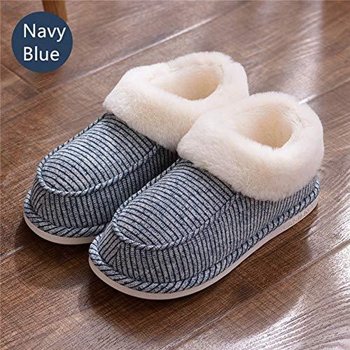Flat Chaussures Coton Intérieur De Slip Lovers Rayures À Chaudes Unisexe Pantoufles On Home D'hiver Ysfu xUpq6WwnSF
