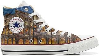 Converse All Star Chaussures Personnalisé et Imprimés (Produit Artisanal) Colosseo Roma