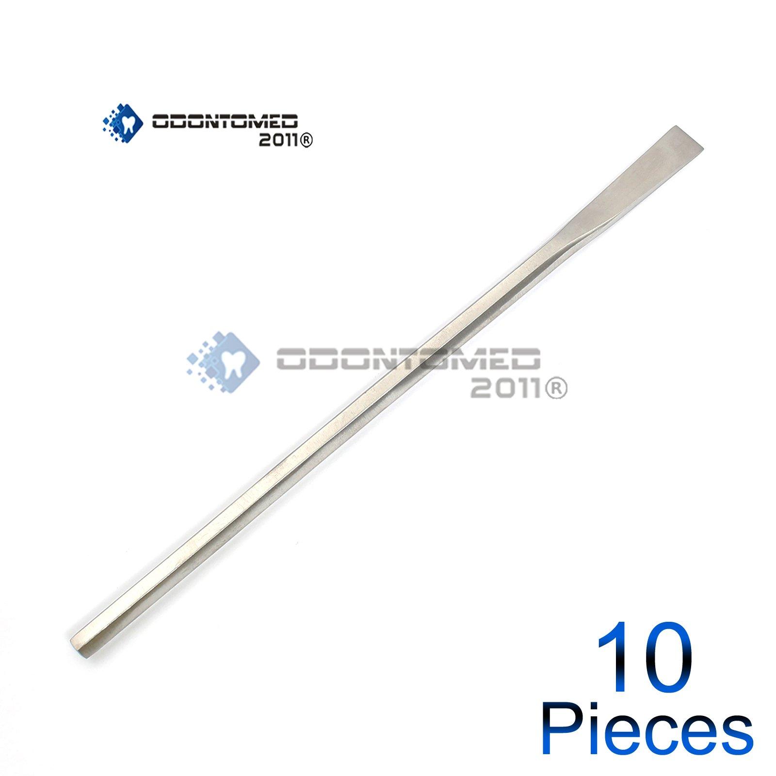 OdontoMed2011 10 PCS SHEEHAN STRAIGHT OSTEOTOME 15MM HEXAGON HANDLE 16CM DENTAL INSTRUMENTS ODM