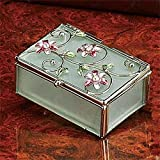 Floral Decoration Jewelry Box, Pink