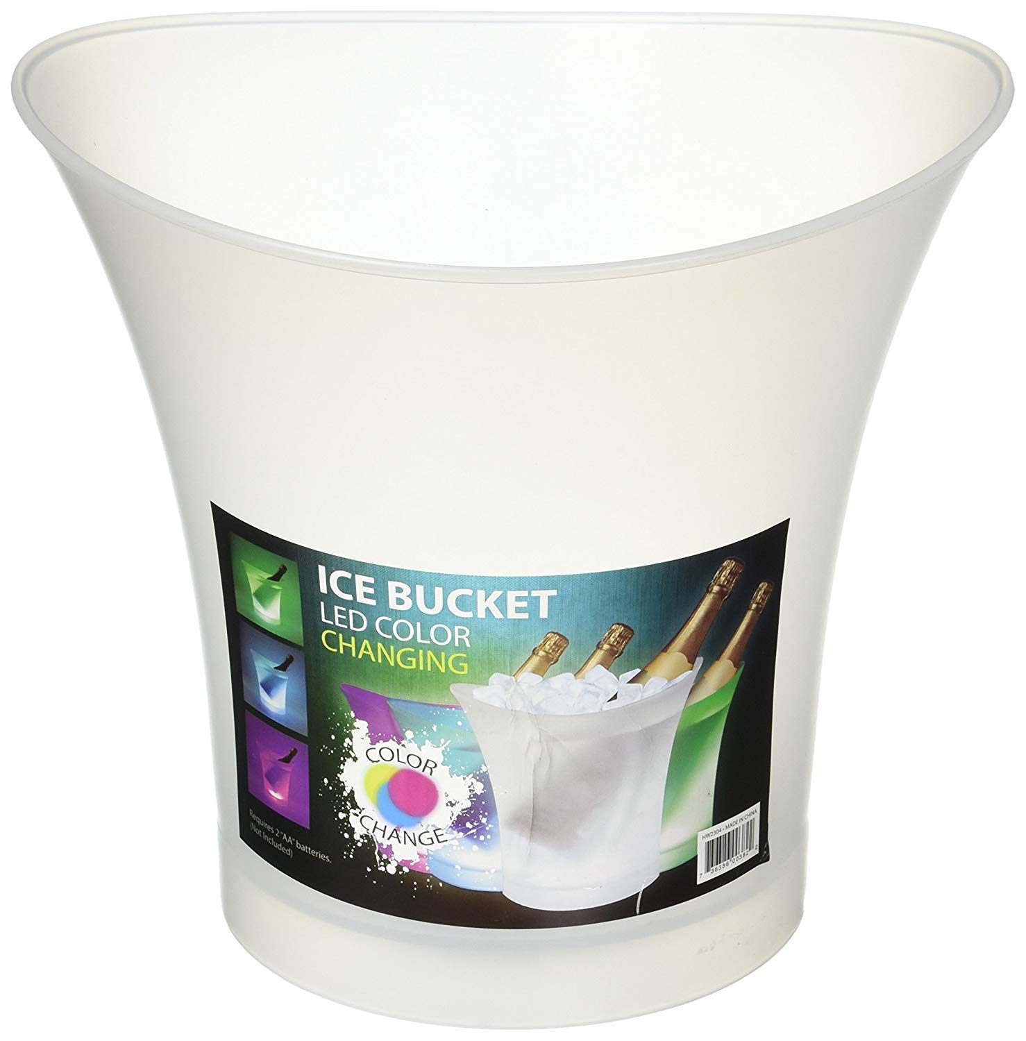 Color-Changing LED Ice & Beverage Bucket
