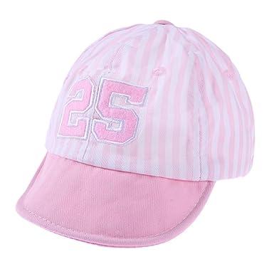 0b3d8debe33 Domybest Summer Newborn Baby Cotton Sun Hat Infant Toddler Girl Boy Striped  Baseball Beret Cap (