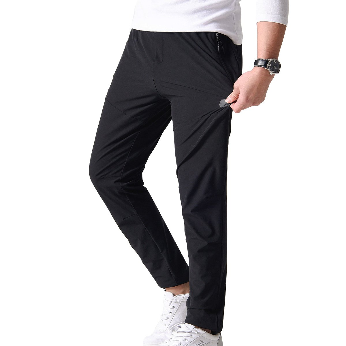Fung-wong Men's Spring and Summer Lightweight Breathable Casual Hiking Pants Outdoor Sports Quick Dry Trousers