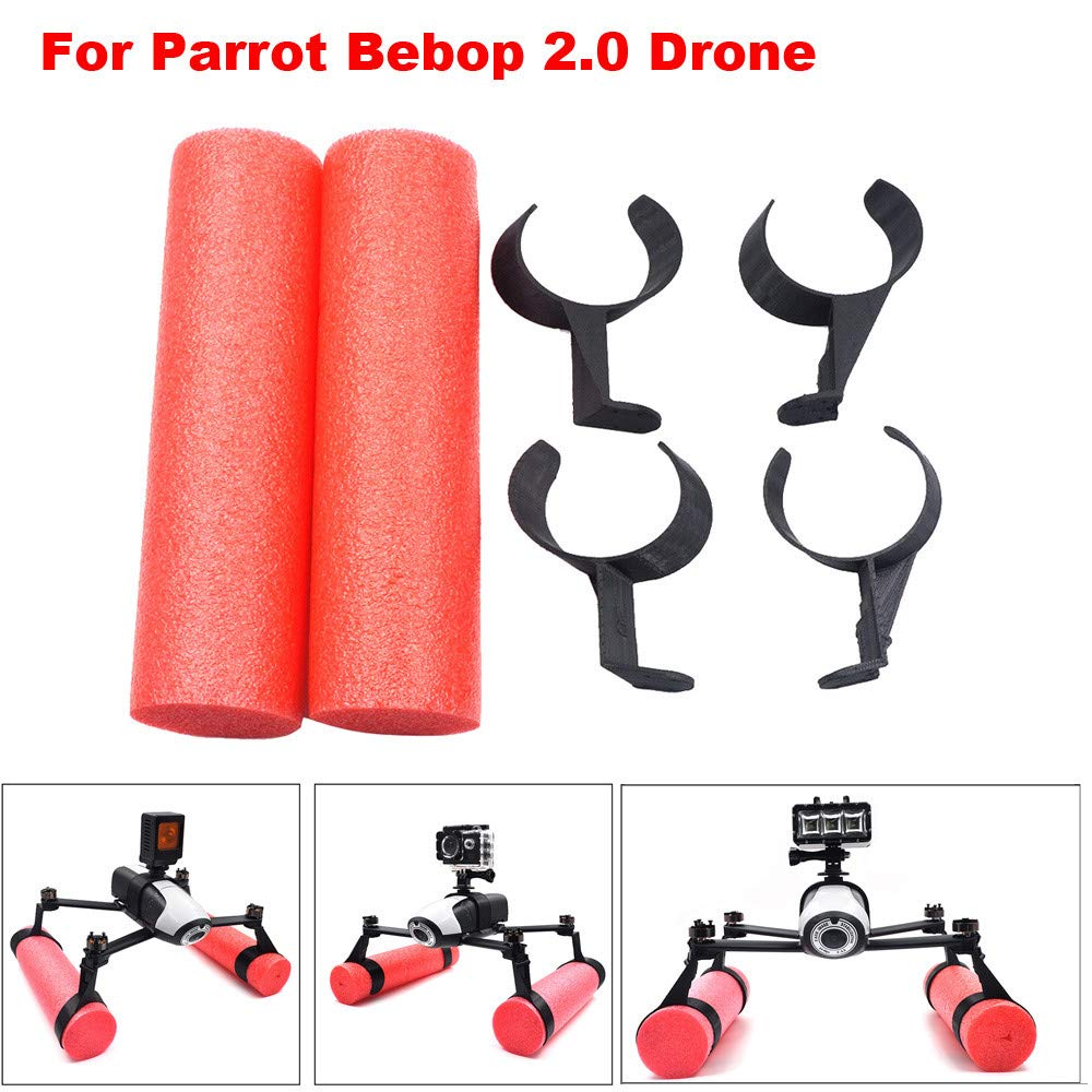 Drones/Quadcopter / Helicopter/Drone Accessories - Extended Landing Gear Skid Training Floating Bobber for Parrot Bebop 2.0 Drone Red