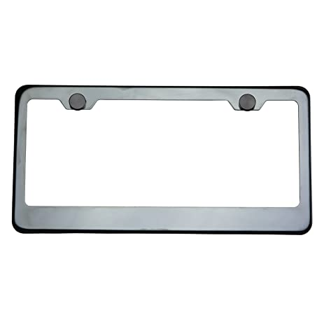 rectangle bracket frame. Polish Black Chrome T304 Stainless Steel License Plate Frame Holder Front Or Rear Bracket With Aluminum Rectangle C