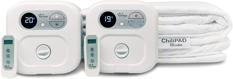 Chili Technology chiliPAD WE King - Sistema de sueño para colchón de refrigeración y calefacción de doble zona, control de temperatura individual, gran mejora del sueño, integración remota inalámbrica