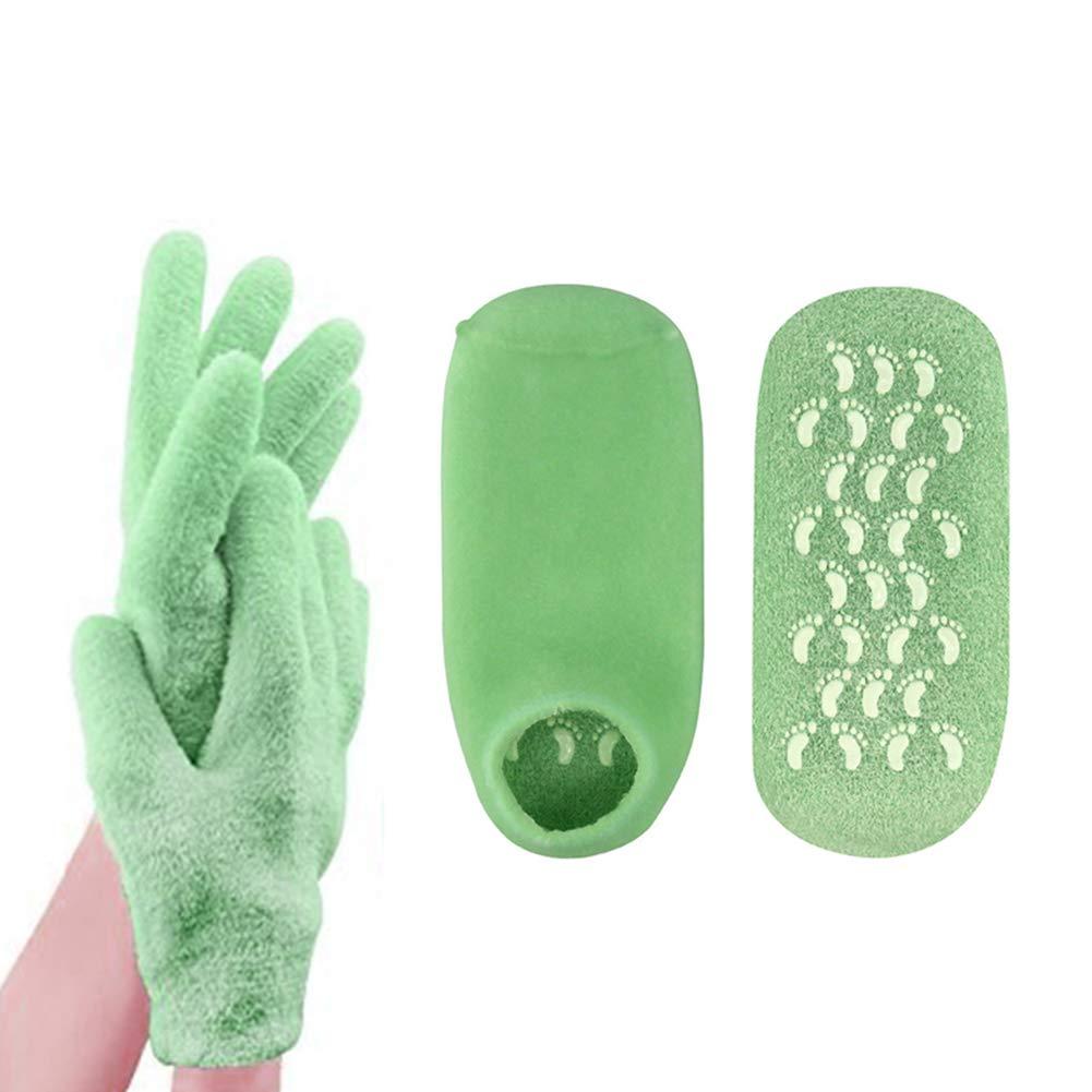 Codream Moisturizing Gel Socks Gloves Set, Spa Gloves and Socks Set for Cracked Dry Skin Treatment, Cracked Heels, Dry Hands