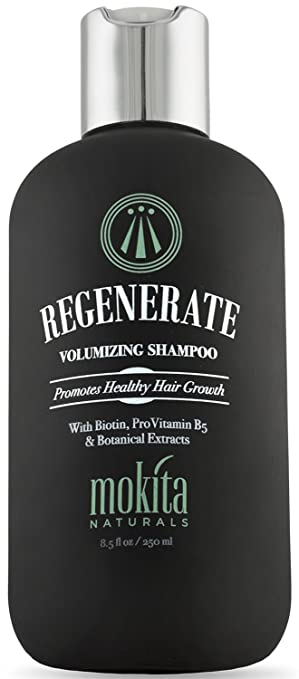 Biotin Hair Growth Volumizing Thickening Shampoo, Hair Loss Thinning and Fine Hair, Regrowth Thickening Products for Men Women, Sulfate Free and Vegan Friendly, Mokita Naturals 8.5 Ounces best men's shampoo for thinning hair