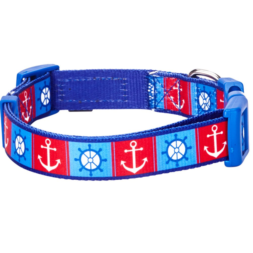 Home collars blueberry pet dog collar nautical flags inspired - Amazon Com Blueberry Pet 9 Patterns Classy Bon Voyage Nautical Ocean Harbor Designer Dog Collar Medium Neck 14 5 20 Adjustable Collars For Dogs Pet