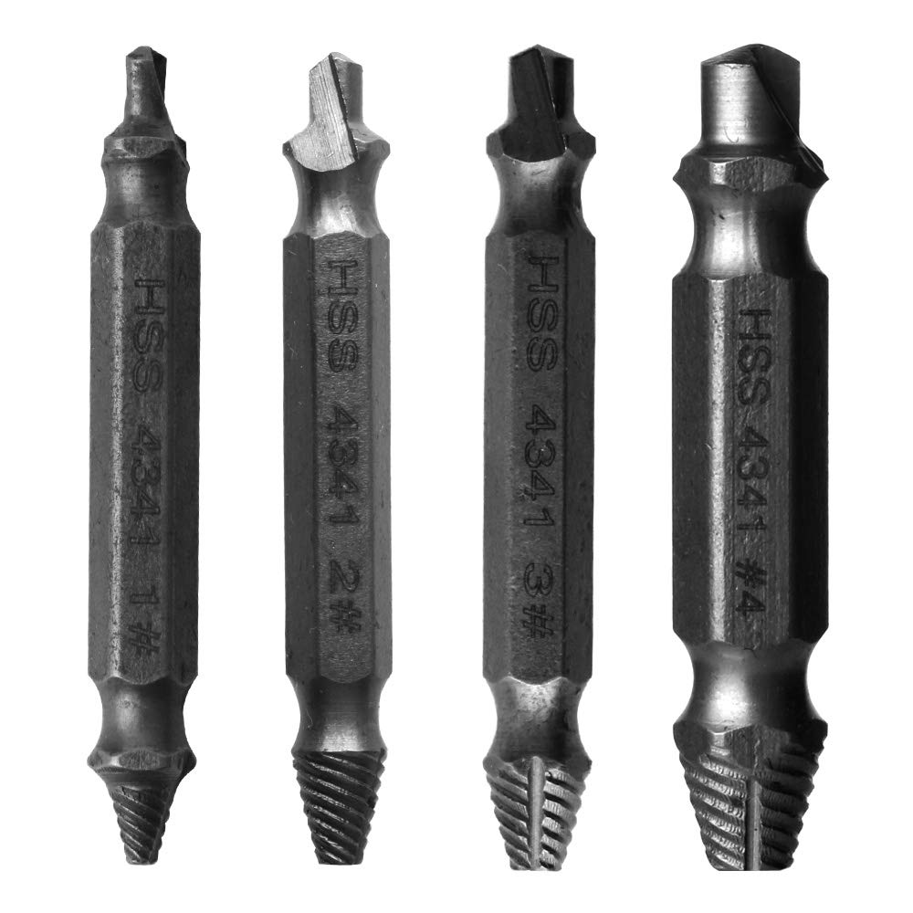 4pcs Damaged Screw Bolt Extractor Pull Out With Storage Case