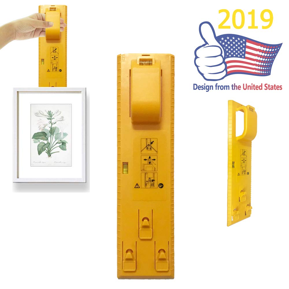 Pro-Picture Hanger Tools-Amazing 2019 upgarde Design Picture Hanging Level Speed Hanger Tool Heavy Duty Photo Hanger Accessories Perfect Your Photo Placement for Picture Photo Posters Cross Stitch ex