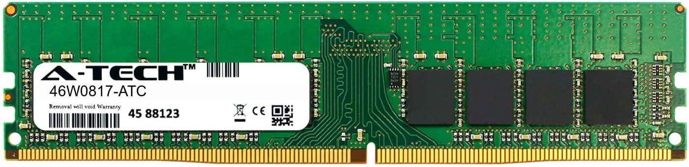 A-Tech 16GB Replacement for Lenovo 46W0817 DDR4 2133MHz PC4-17000 ECC Unbuffered UDIMM 2rx8 1.2v Single Server Memory Ram Stick 46W0817-ATC