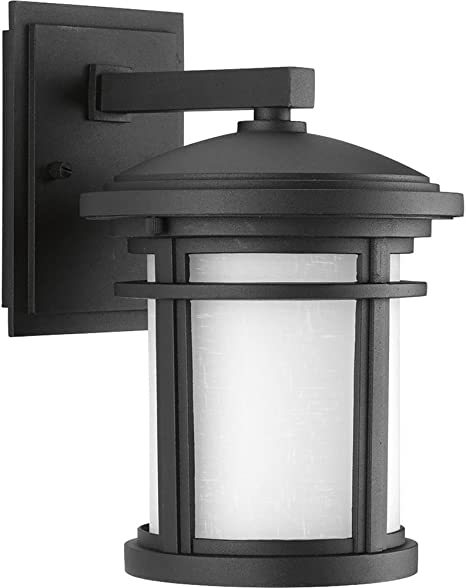 Outdoor Textured Black LED Wall Lantern Sconce Wish Collection 1-Light 12.5 in