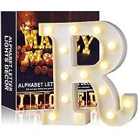 A-Z Alphabet Light White LED Lámparas de noche