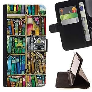 Momo Phone Case / Flip Funda de Cuero Case Cover - Lectura Pastel Biblioteca Profesor trullo - Samsung Galaxy A5 ( A5000 ) 2014 Version