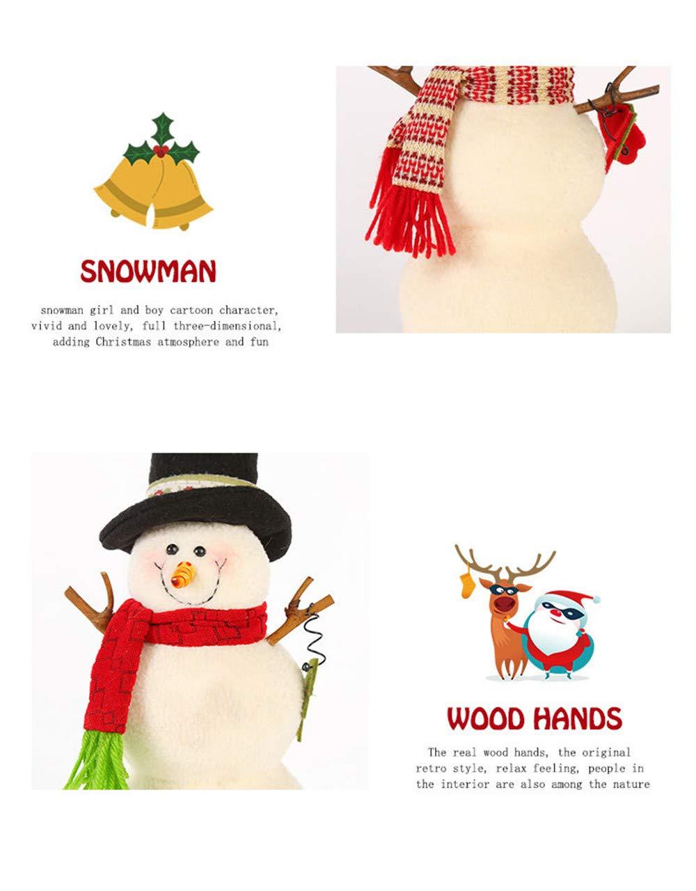 tianranrt Navidad decoración muñeco de nieve animado juguete muñeca relleno de peluche Navidad Regalo, Multicolor: Amazon.es: Bricolaje y herramientas