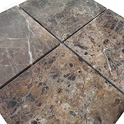 Emperador 6 in. x 6 in. Honed Marble Floor/Wall Tile (1pk/4pcs-1 sq. ft.)
