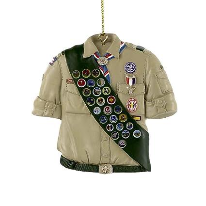 bd88af3223b Amazon.com: Kurt Adler Boy Scouts Of America Shirt With Sash Ornament: Home  & Kitchen