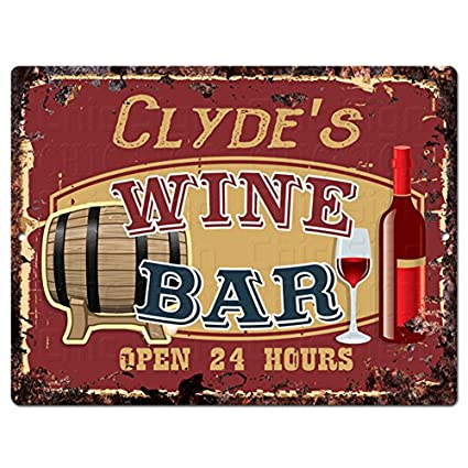 tin home decor.htm amazon com chic sign clyde s wine bar tin rustic vintage style  wine bar tin rustic vintage style