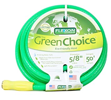 Flexon Green Choice 50 Foot Hose Lead Free 99% Recyclable