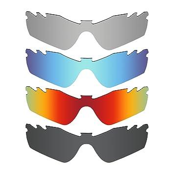 47e0328044a74 MRY 4 Pares polarizadas Lentes de Repuesto para Oakley Radar Path Vented  Sunglasses-Stealth Negro Fuego Rojo Hielo Azul Plata Titanio  Amazon.es   Deportes y ...