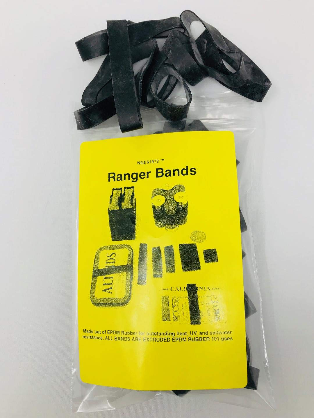 Ranger Bands Mixed (70 count) Made From EPDM Rubber for Survival and Strapping Gear Various Sizes Made in the USA