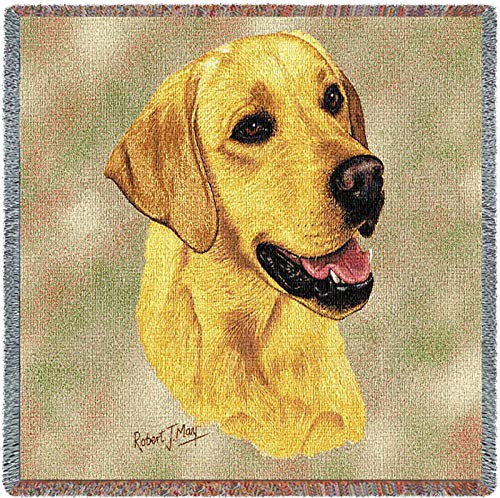 Pure Country 1152-LS Yellow Lab Pet Blanket, Canine on Beige Background, 54 by 54-Inch by Pure Country (Image #5)