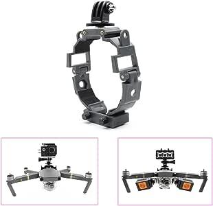 STARTRC Camera Gimbal Mult-function Fill Light Holder Mount Bracket 360-degree Rotatable Action Panorama Camera for DJI Mavic Pro Platinum Drone