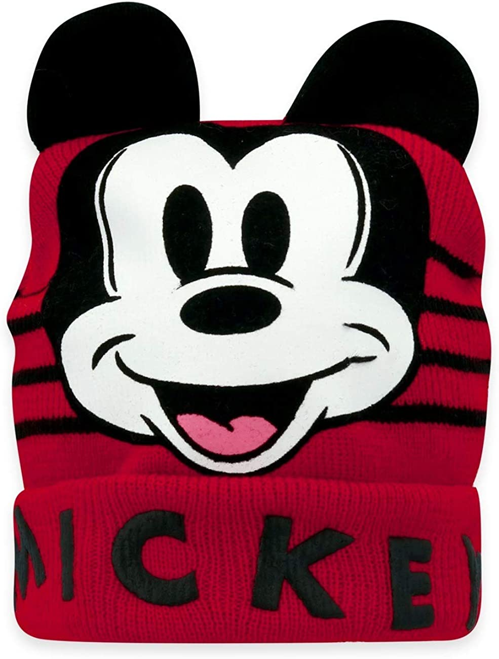Disney Mickey Mouse Knitted Baby Boys Girls Warm Winter Beanie Hat with Character Ears Red 50