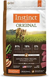 Instinct Original Grain Free Recipe with Real Duck Natural Dry Cat Food by Nature's Variety, 10 lb. Bag