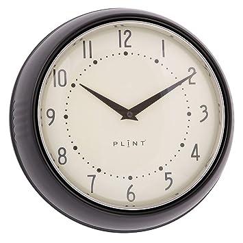 Plint - Reloj de Pared para Cocina, diseño danés, Color Negro ...