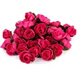 WINOMO 50pcs 3cm rose artificiali capolini Wedding Decoration (Rosy)