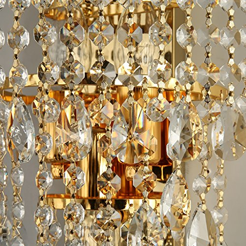 MILUCE Luxury k9 crystal wall lamp led gold living room bedroom bedside dining room wall lamp European lighting by MILUCE (Image #4)