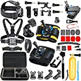 SmilePowo Gopro Session Camera Accessory for GoPro Hero 6 - 5 Black - Hero Session - Hero 5 - 4 - 3 - 3+ - Session - GoPro Fusion - AKASO - SJCAM - DBPOWER,Sports Action Camera - Accessories Kit