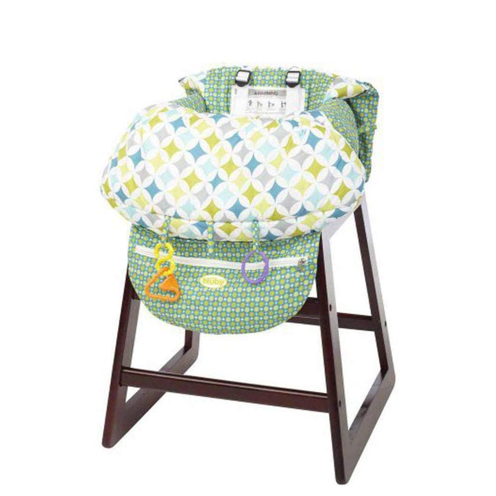 Printed Child Supermarket Trolley Dining Chair Harness Protection Antibacterial Safety Travel Cushion Portable Grocery Cart Cover for Infant Toddler Baby Sanmubo Shopping Cart Cover High Chair Cover
