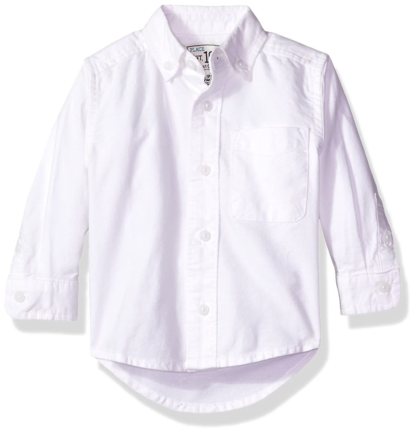 The Childrens Place Baby Boys Uniform Long Sleeve Oxford Shirt