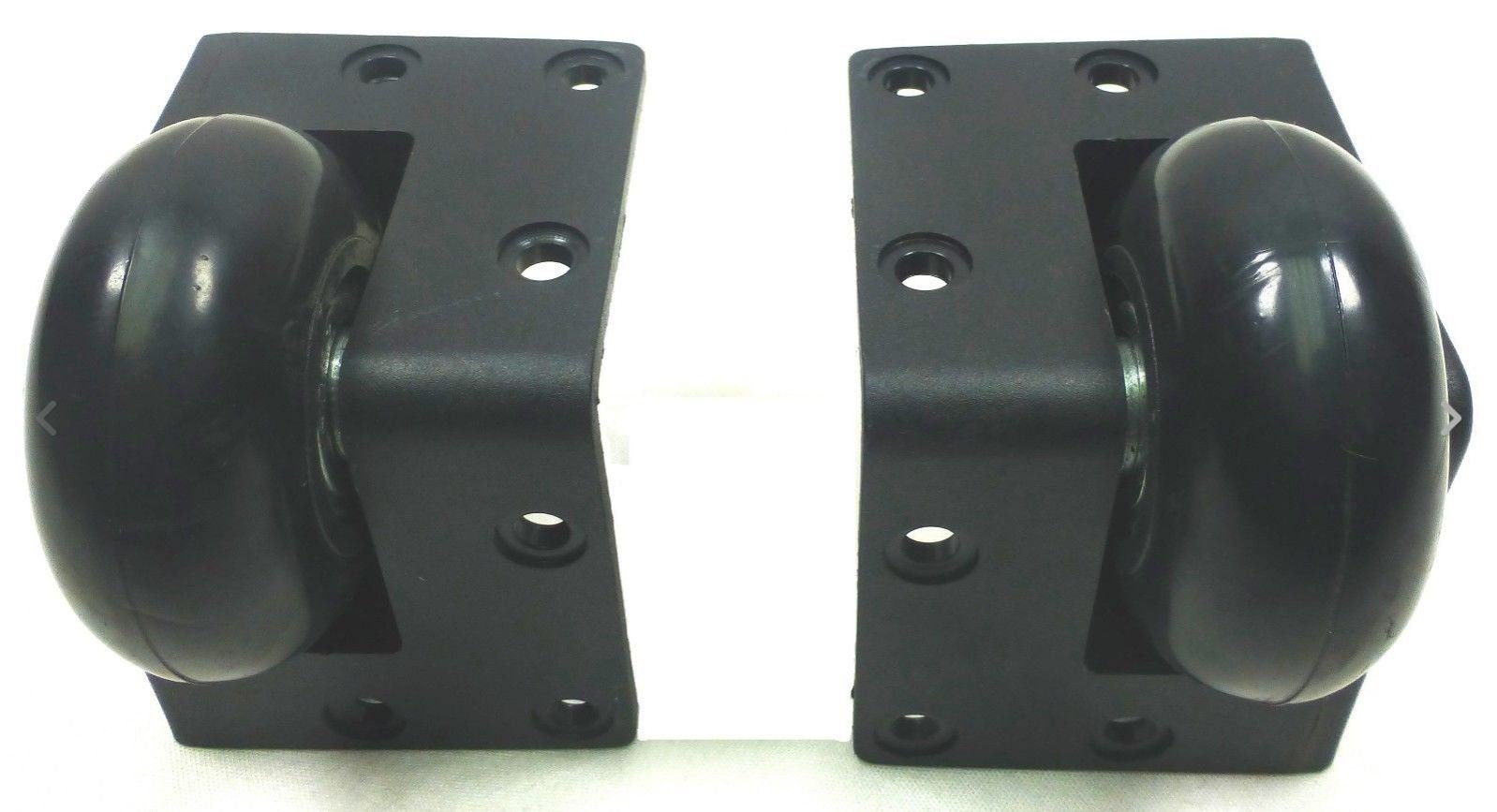 Set Of (2)Two Plastic Corner Casters w/ 2'' Dia Wheel for ATA or Euro Road Cases.