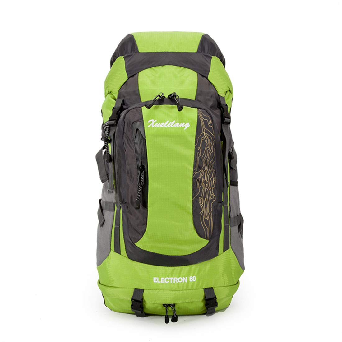 CAFUTY バックパック多機能大容量トラベルキャンプクライミングハイキングトレイルレジャースポーツ多機能荷物用バッグ屋外での使用に適したニュートラル (Color : オレンジ) B07N6819P4