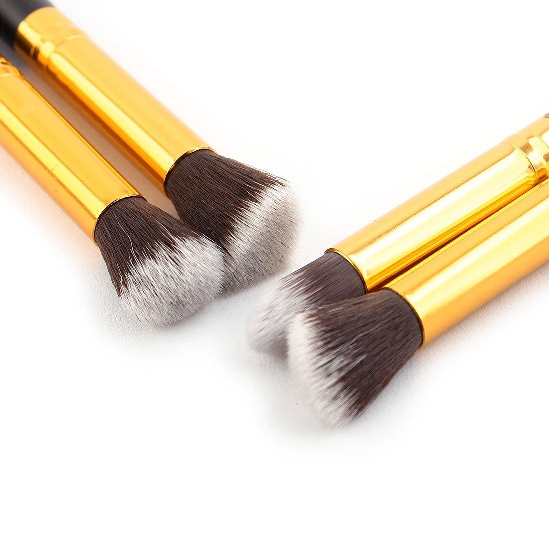Amazon.com: Manija de Madera de Nylon eDealMax Pelo, señora Sombra de ojos en polvo Foudation, maquillaje cosmético herramienta Pincel Set 4 piezas Negro: ...