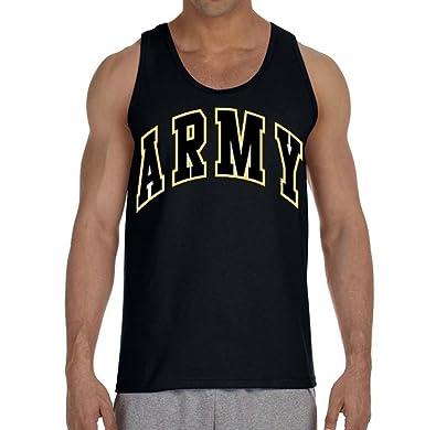 2f3eaa363ab31 Amazon.com  Interstate Apparel Inc Army Men s Tank Top Black US ...