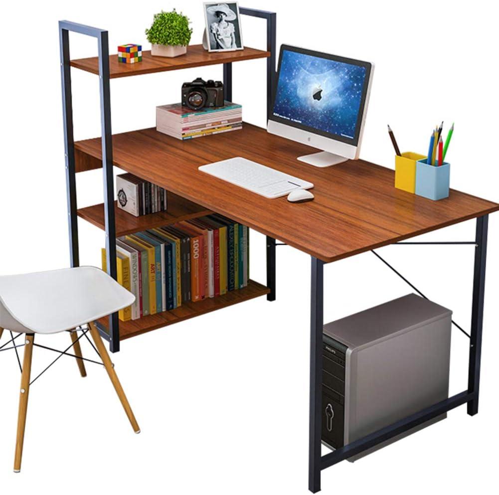 Multiusos Escritorio esquinero Con estantes, Escritorio de la computadora Estación de trabajo Con bandeja de teclado, Estructura metÁlica robusta ...