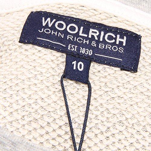 9942u Sweater Felpa Kid Grigio Bimba Cotone Woolrich UqUFTrZ