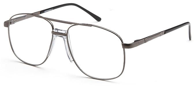 Amazon.com: Mens Oval Glasses Frames Metallic Prescription ...