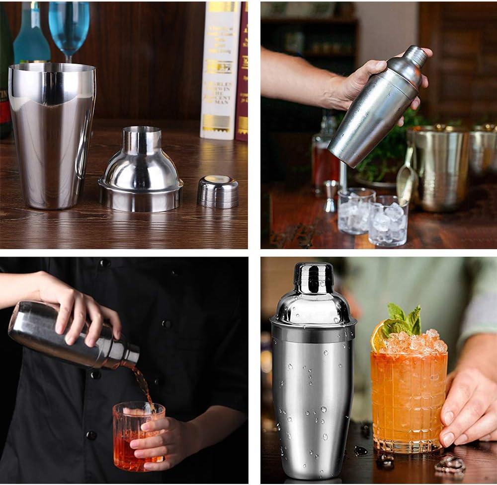 versatore con shaker da 750 ml cucchiaio bar rotto ghiacciolo barista misurino per bevande Set di shaker per cocktail